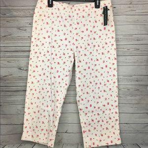 Lauren Ralph Lauren Floral Crop Pants Vintage